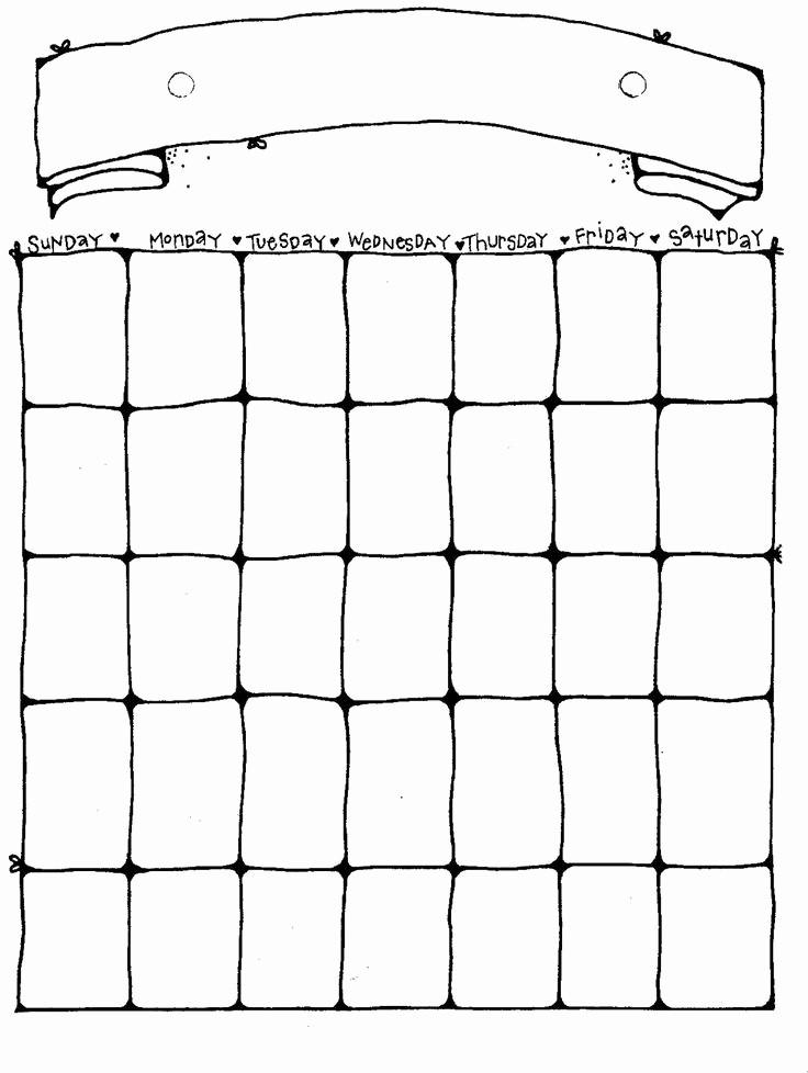 4 X 6 Calendar Template Unique 25 Best Ideas About Blank Calendar On Pinterest