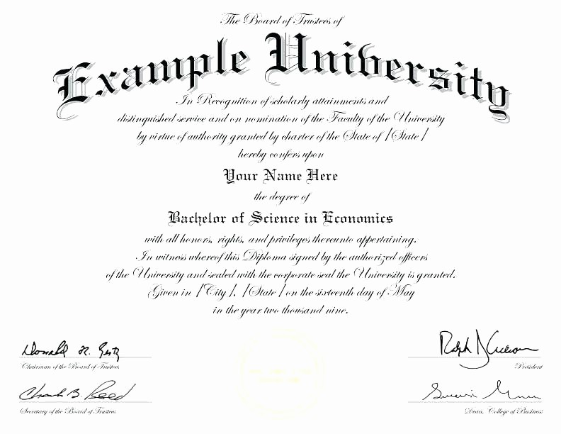 4 Year Degree Plan Template Luxury Degree Certificates Fake University Degrees College