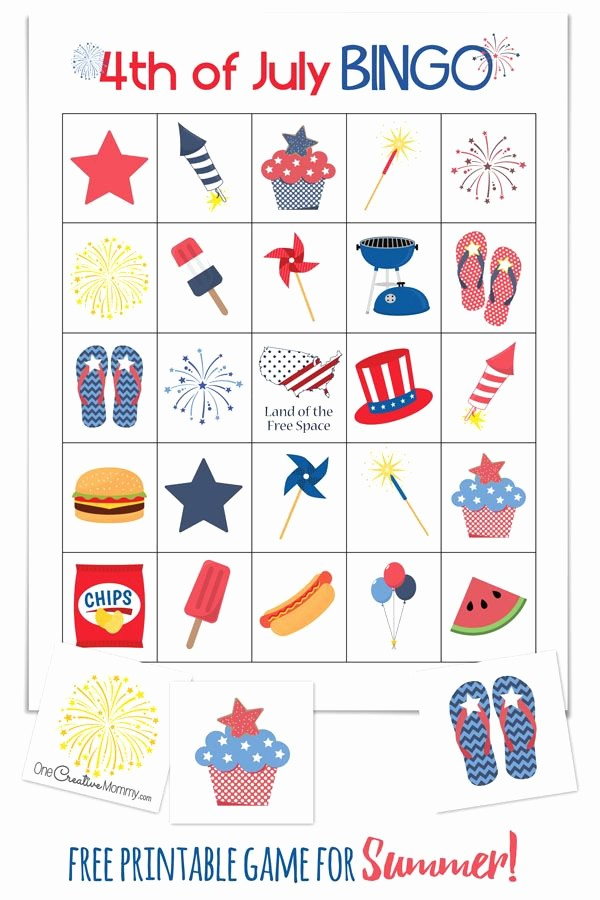 4th Of July Cards Printable Awesome 4th Of July Bingo