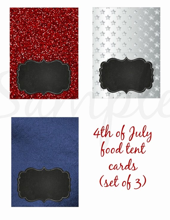 4th Of July Cards Printable Awesome Instant Download Independence Day 4th Of July Food Label