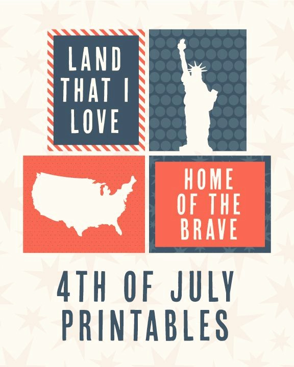 4th Of July Cards Printable Beautiful 4th Of July Printables