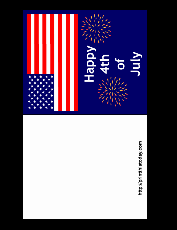 4th Of July Cards Printable Best Of Free Printable 4th Of July Cards