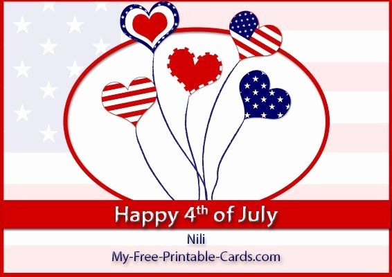 4th Of July Cards Printable Best Of Happy 4th Of July Free Printable Holiday Cards