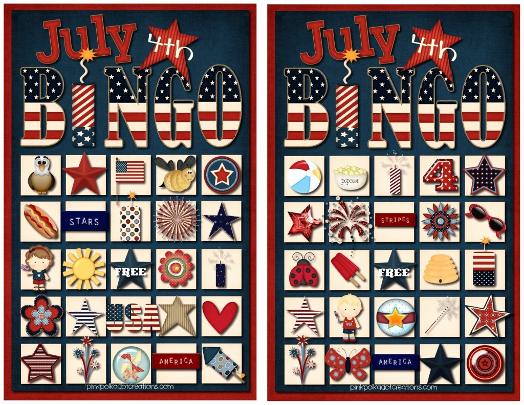 4th Of July Cards Printable Best Of July 4th Bingo Game Pink Polka Dot Creations