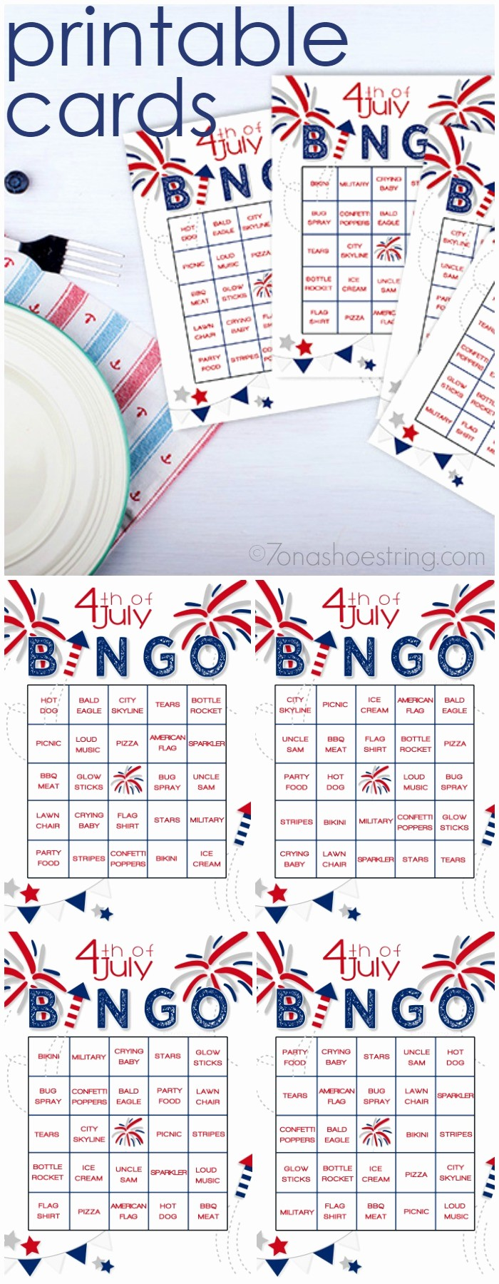 4th Of July Cards Printable Elegant Printable 4th Of July Bingo Adds Fun to Patriotic Celebrations