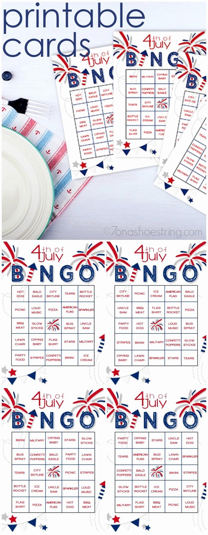 4th Of July Cards Printable Elegant Printable 4th Of July Bingo Adds Fun to Patriotic Celebrations