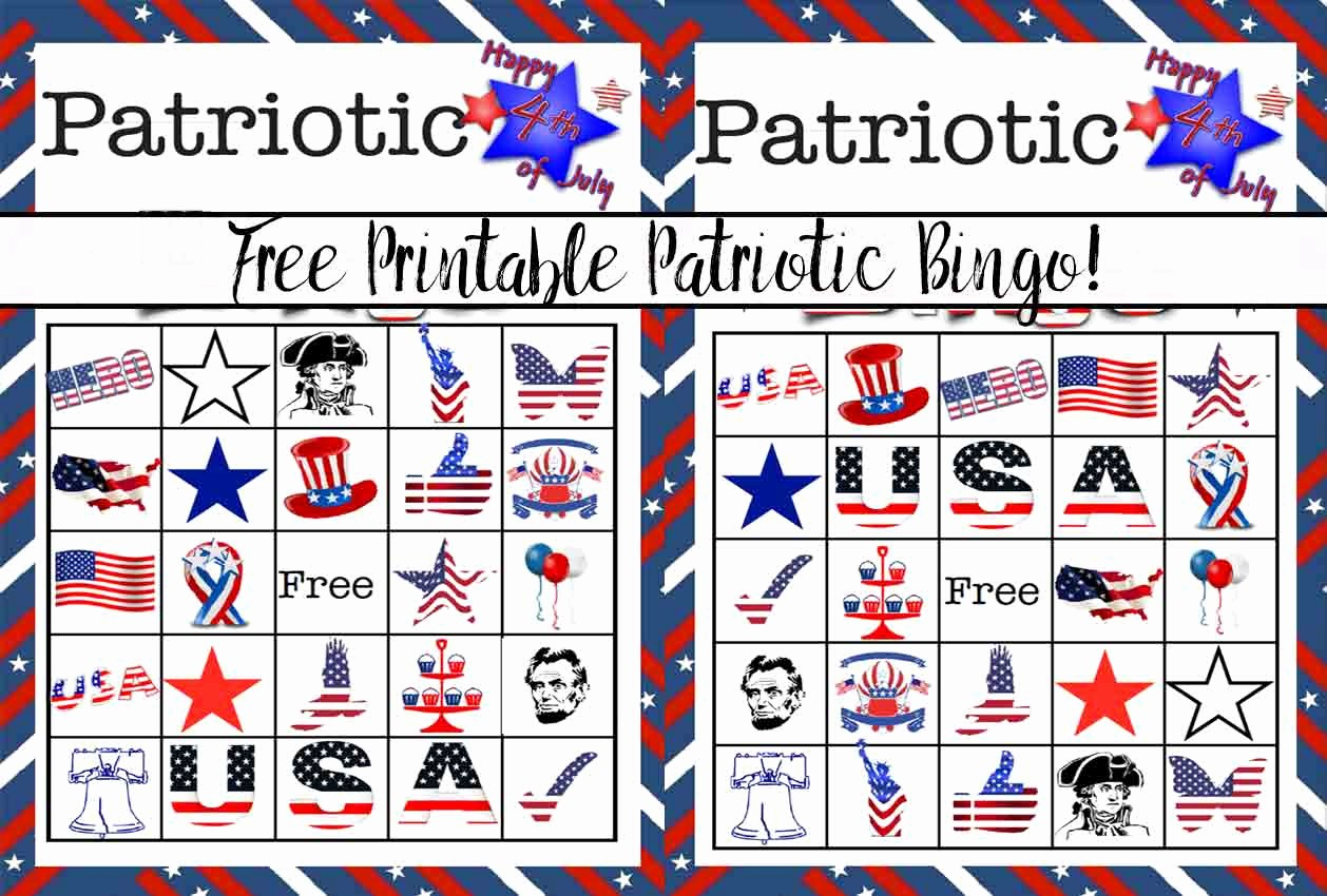4th Of July Cards Printable Fresh Free Printable 4th Of July Patriotic Bingo