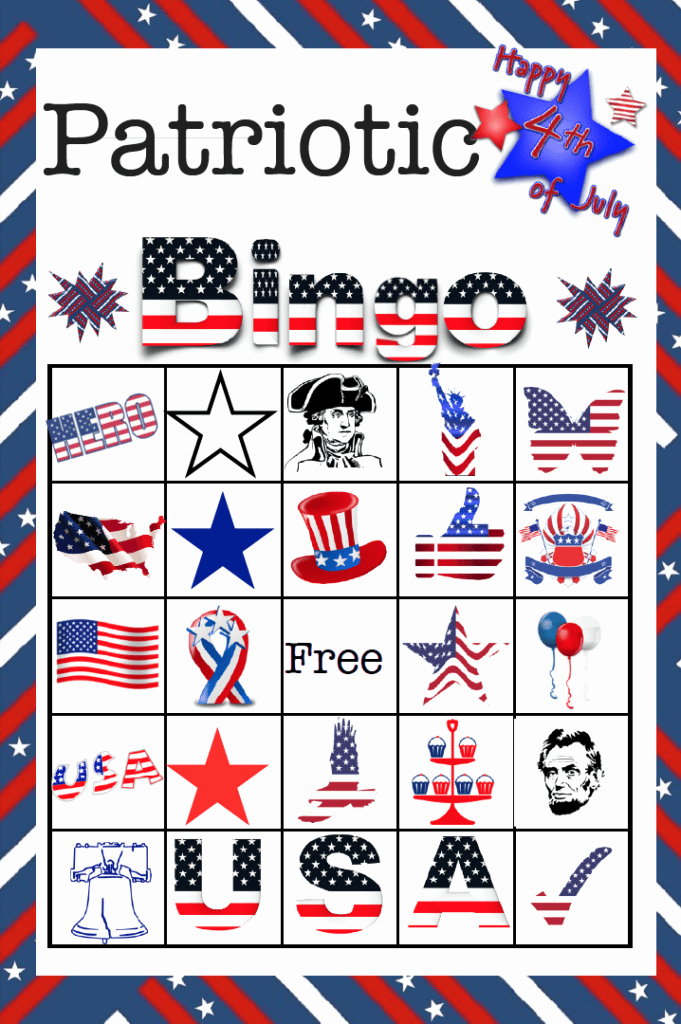 4th Of July Cards Printable Inspirational Free Printable 4th Of July Patriotic Bingo