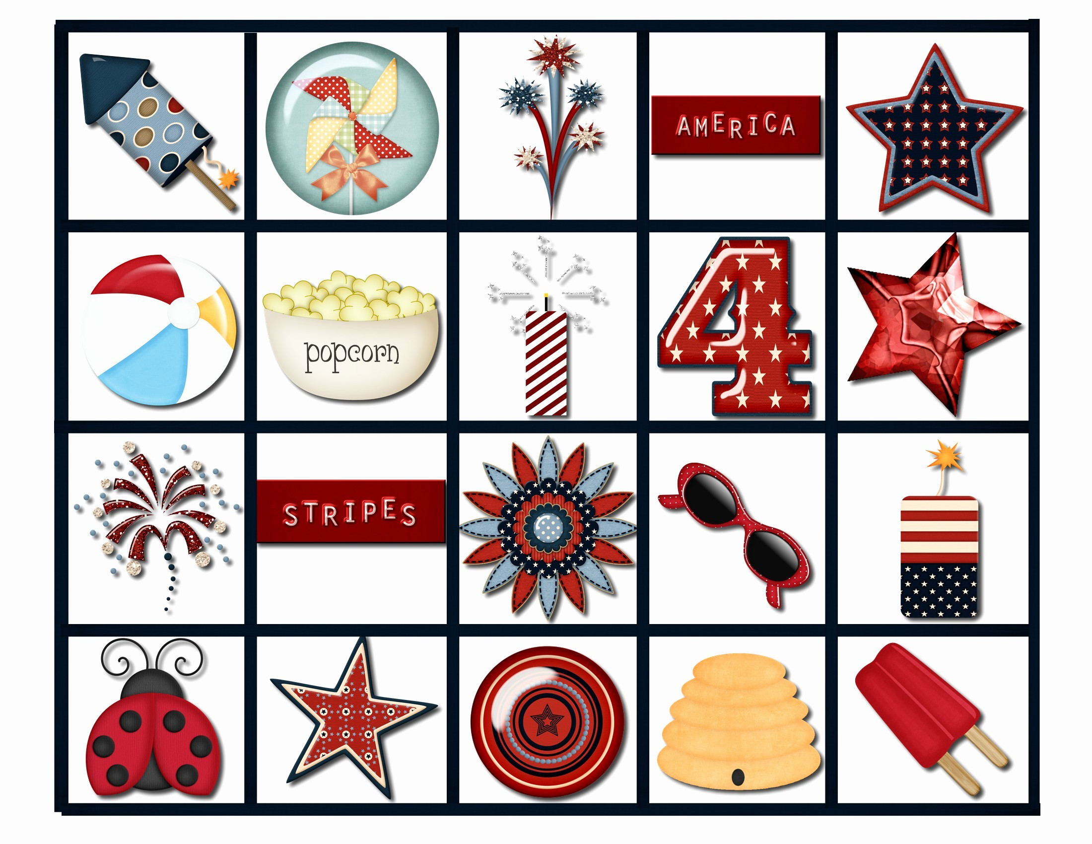 4th Of July Cards Printable Inspirational July 4th Bingo Game Pink Polka Dot Creations