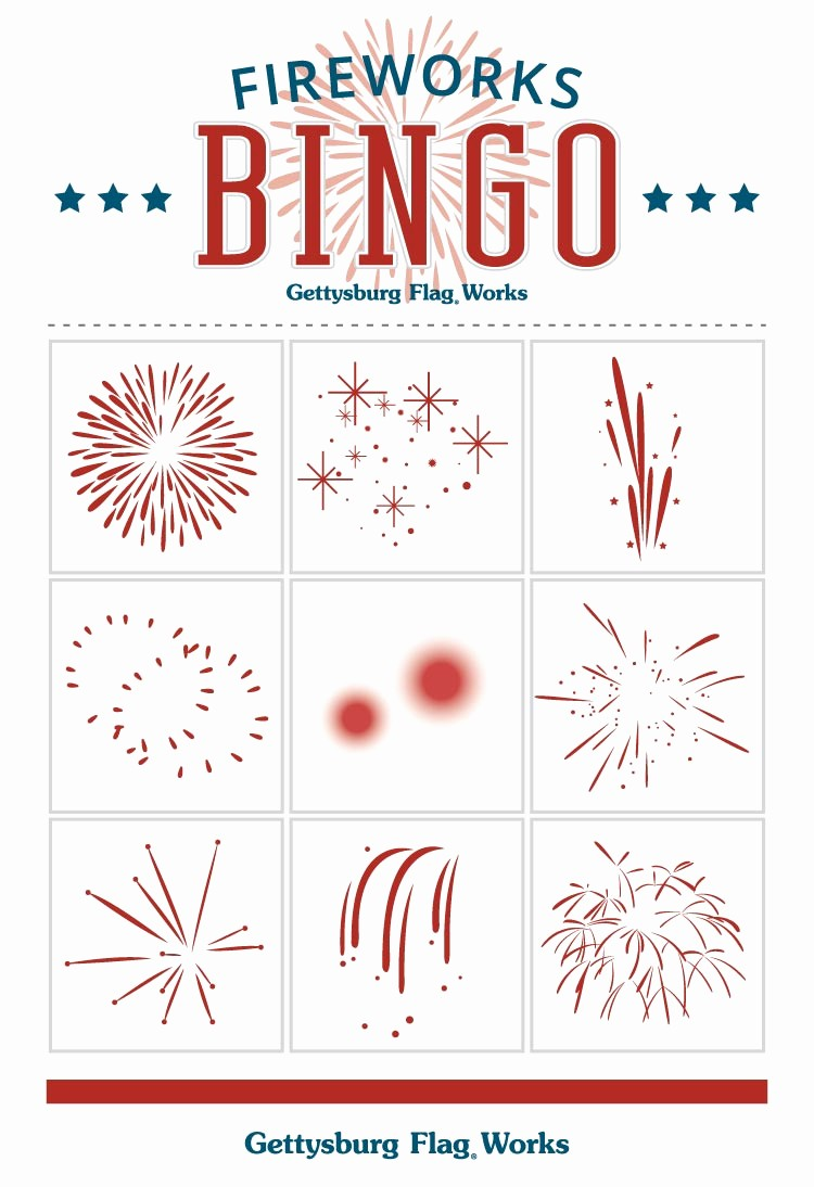 4th Of July Cards Printable Luxury Fourth Of July Fun Free Printable Fireworks Bingo