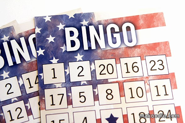 4th Of July Cards Printable Luxury Patriotic Printable Bingo Cards Makoodle