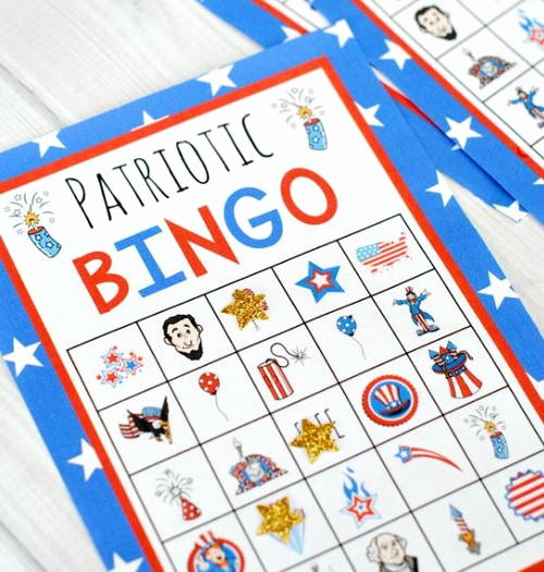 4th Of July Cards Printable New Fun 4th Of July Printable Bingo Cards