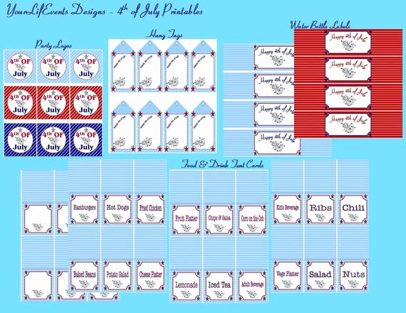 4th july party printables independence day