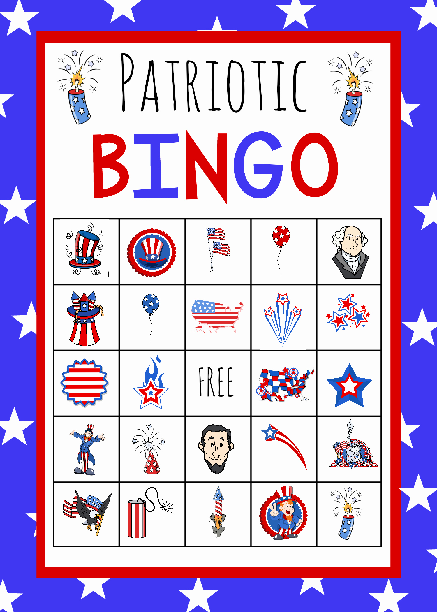 4th Of July Cards Printable Unique Patriotic 4th Of July Bingo Game to Print