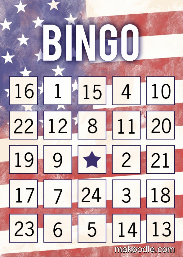 4th Of July Cards Printable Unique Patriotic Printable Bingo Cards Makoodle