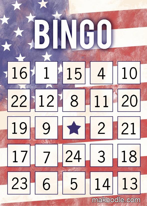 4th Of July Cards Printable Unique Patriotic Printable Bingo Cards Makoodle