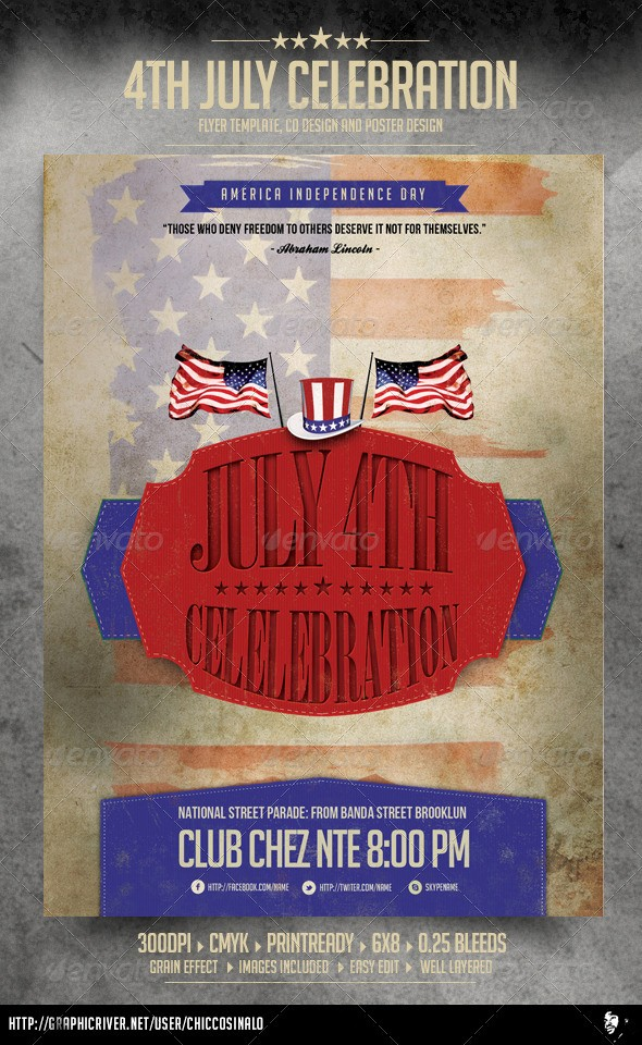 4th Of July Menu Template Awesome 4th Of July Flyer Template by Chiccosinalo