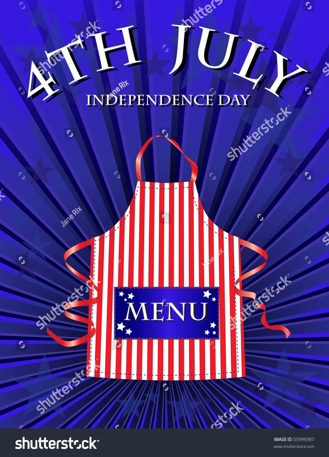 4th Of July Menu Template Awesome A 4th July Independence Day Menu Template Stock