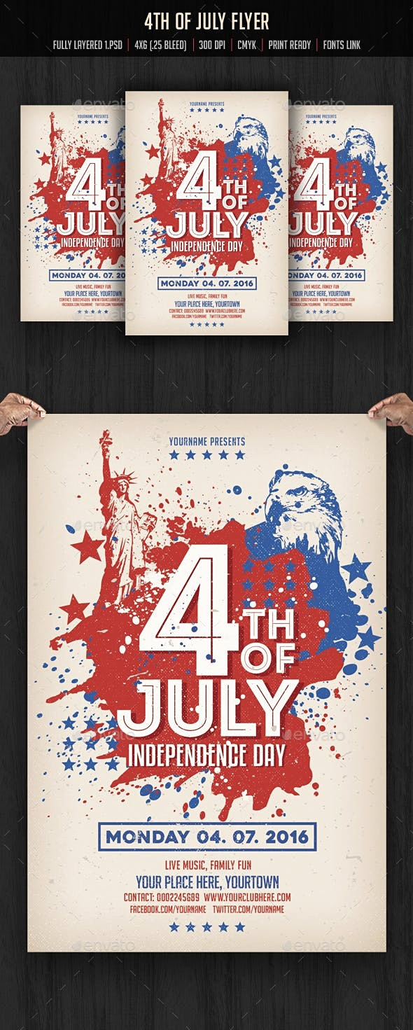 4th Of July Menu Template Beautiful 4th Of July Flyer Template by Creativeartx