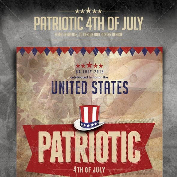 4th Of July Menu Template Beautiful Patriotic Flyer Templates From Graphicriver