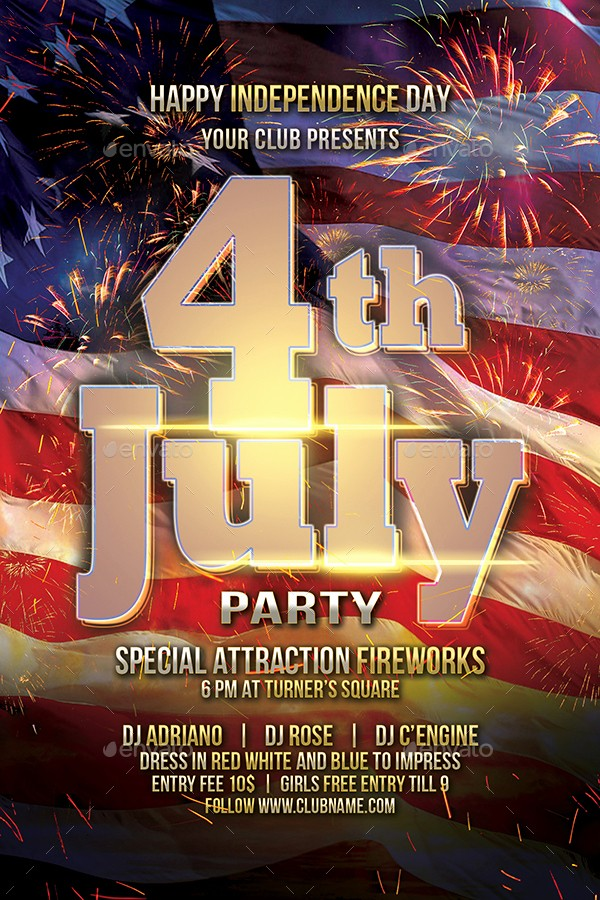 4th Of July Menu Template Best Of 4th July Fireworks Flyer by Indworks