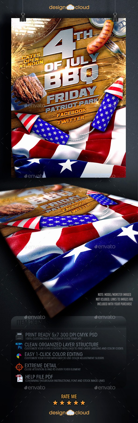 4th Of July Menu Template Elegant July 4th Bbq Flyer Template by Design Cloud