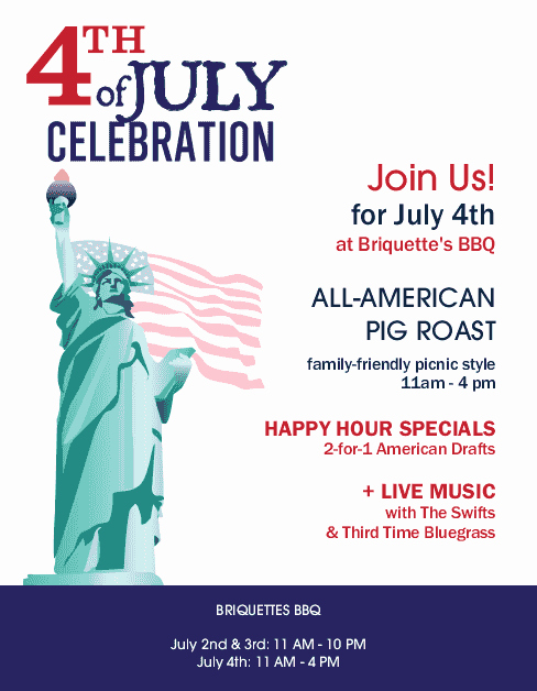 4th Of July Menu Template Fresh Bbq 4th July Flyer Letter