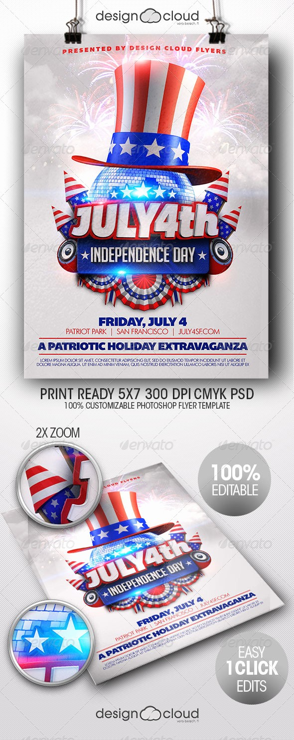 4th Of July Menu Template Fresh July 4th Independence Day Flyer Template by Design Cloud