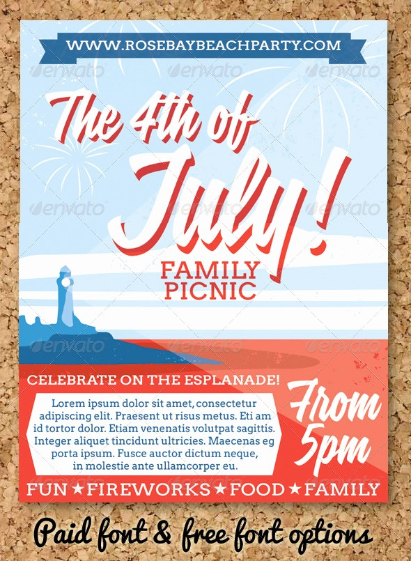 4th Of July Menu Template Lovely July 4 event Flyer or Party Invitation by Firstaidkit