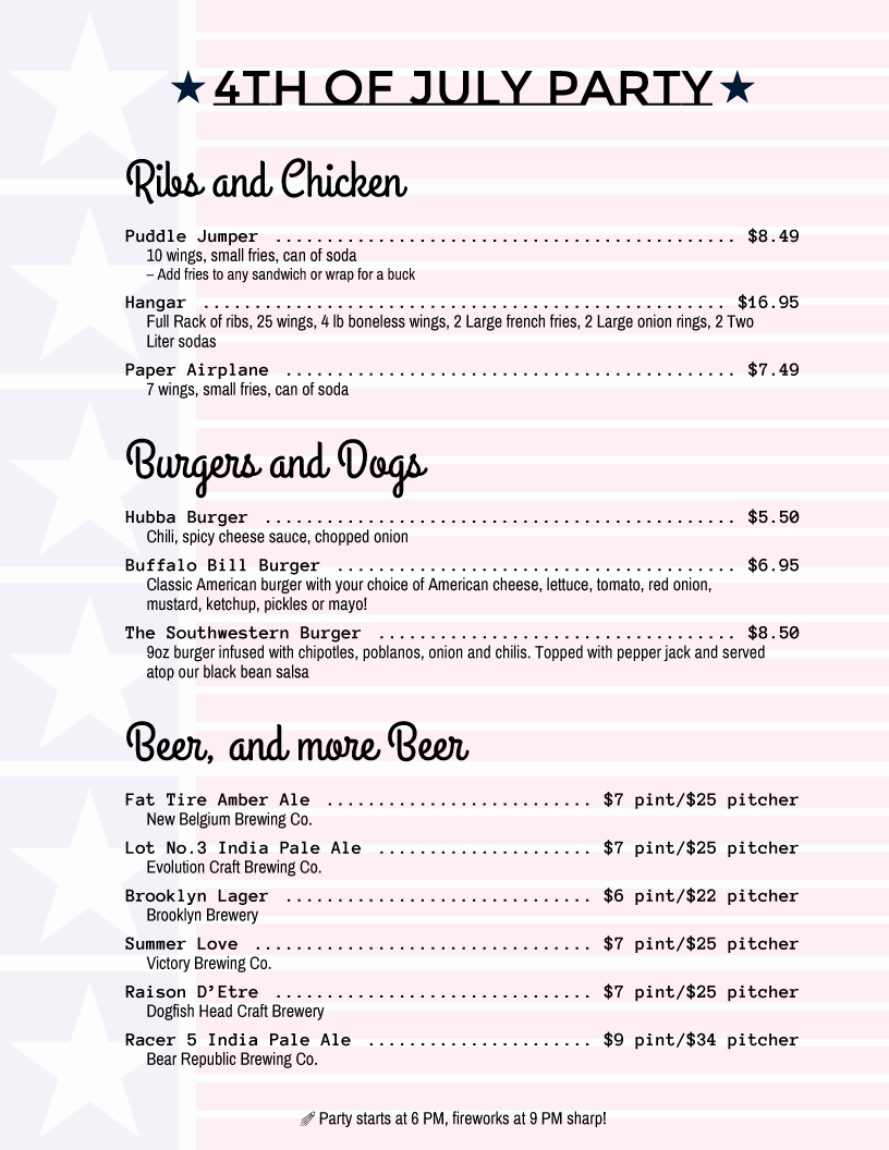 4th Of July Menu Template Luxury Holiday Menu Templates From Imenupro More Than Just