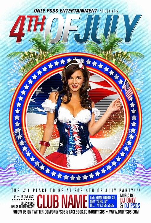 4th Of July Menu Template New 4th Of July Party Flyer Template