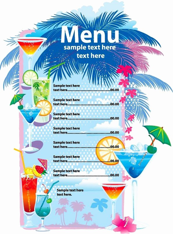 4th Of July Menu Template New Menu Template