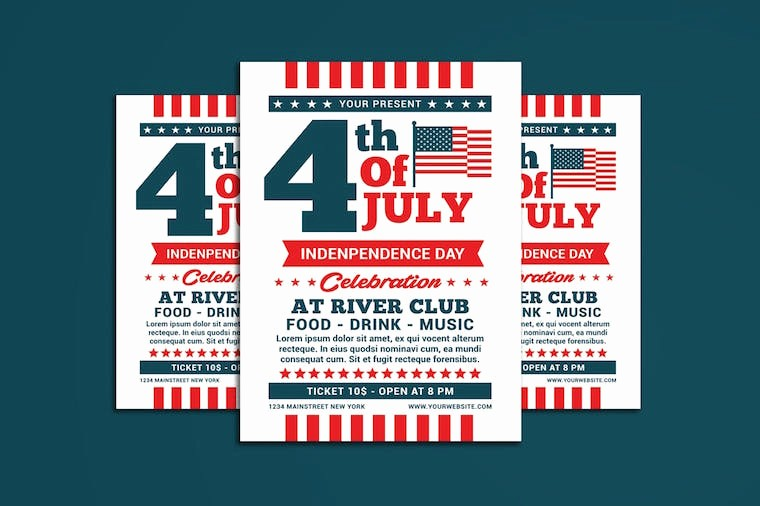 4th Of July Menu Template New Stars and Stripes Designed for the 4th Of July Envato