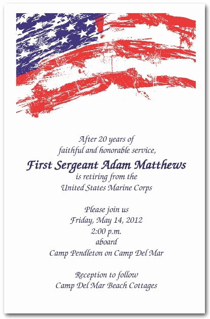 4th Of July Menu Template New Usa Flag Invitations 4th Of July Invitations Military
