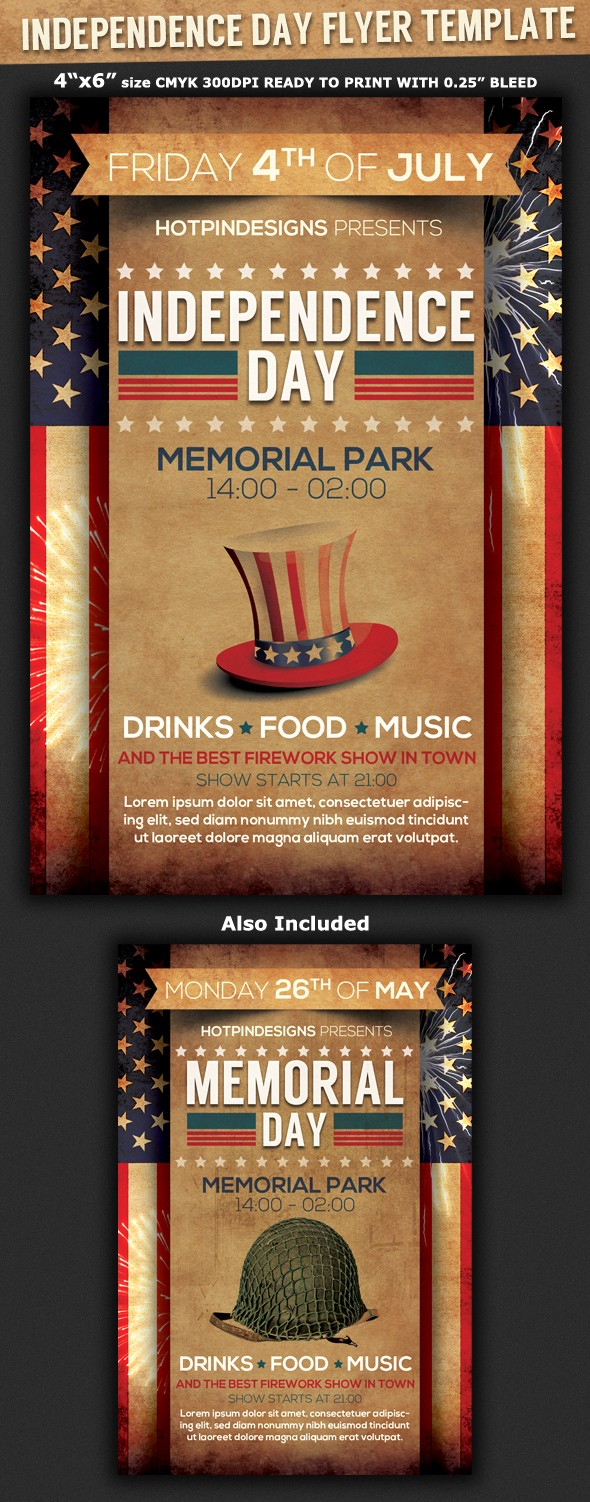 4th Of July Menu Template Unique 4th Of July Independence Day Flyer