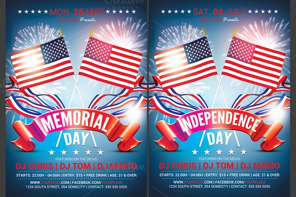 4th Of July Menu Template Unique Memorial & Independence Day Flyer Flyer Templates On