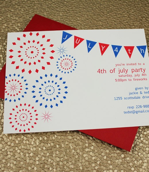 4th Of July Party Invites Awesome 4th Of July Party Invitation Template – Download & Print