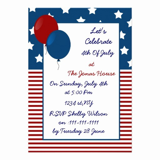 fun 4th of july holiday party invitation
