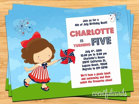 4th Of July Party Invites Best Of 4th Of July Birthday Party Invitation by eventfulcards