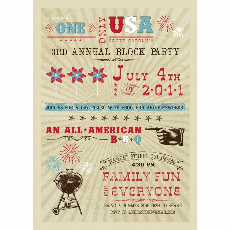 4th Of July Party Invites Best Of All American 4th Of July Bbq Party Printable Invitation