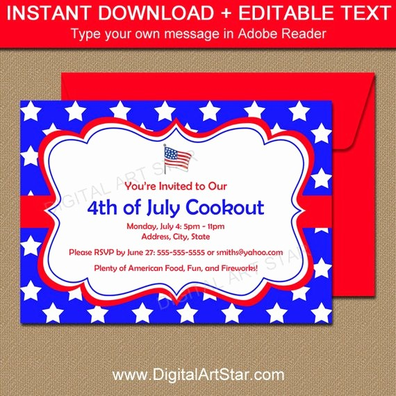 4th Of July Party Invites Elegant Fourth Of July Invitations July 4th Invitations