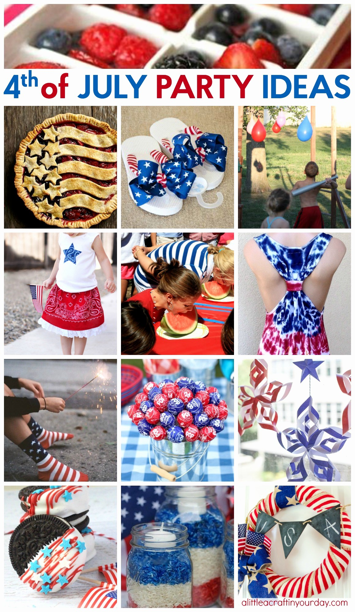 4th Of July Party Invites Fresh 44 Way Cool Fourth Of July Party Ideas A Little Craft In