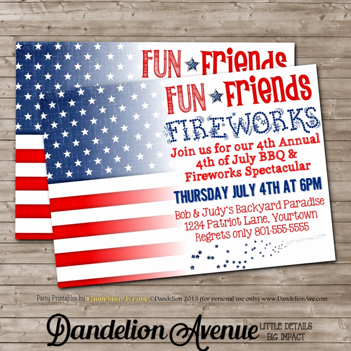 4th Of July Party Invites Fresh Fourth Of July Bbq & Fireworks Party Invitation 2