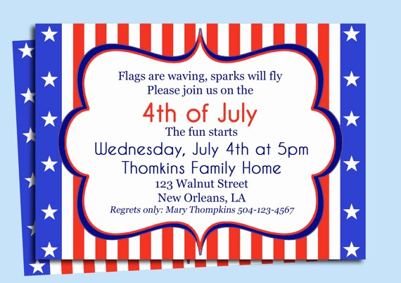 4th Of July Party Invites Lovely 4th July Birthday Party Invitations