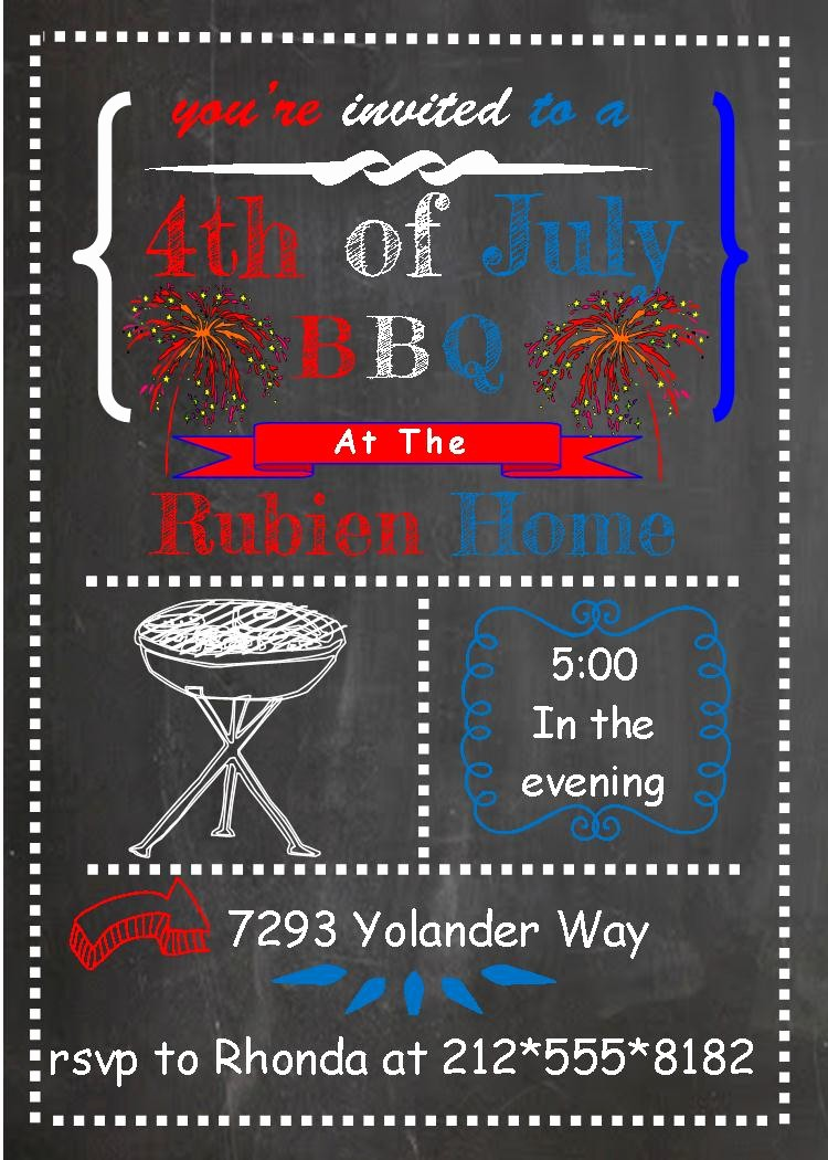 4th Of July Party Invites Lovely 4th Of July Party and Patriotic Invitations for New