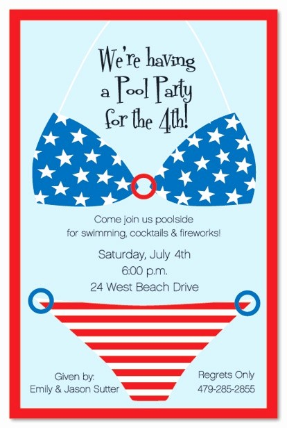 4th Of July Party Invites Luxury 17 Best Images About Pool Party Invitation Ideas On