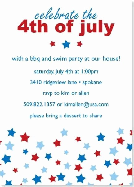 4th Of July Party Invites New Wording for 4th July Party Invitations July 4th