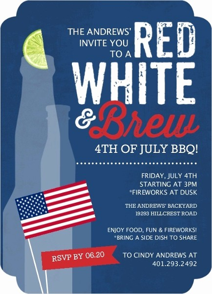 4th Of July Party Invites Unique Fourth Of July Party Ideas themes & Invitations
