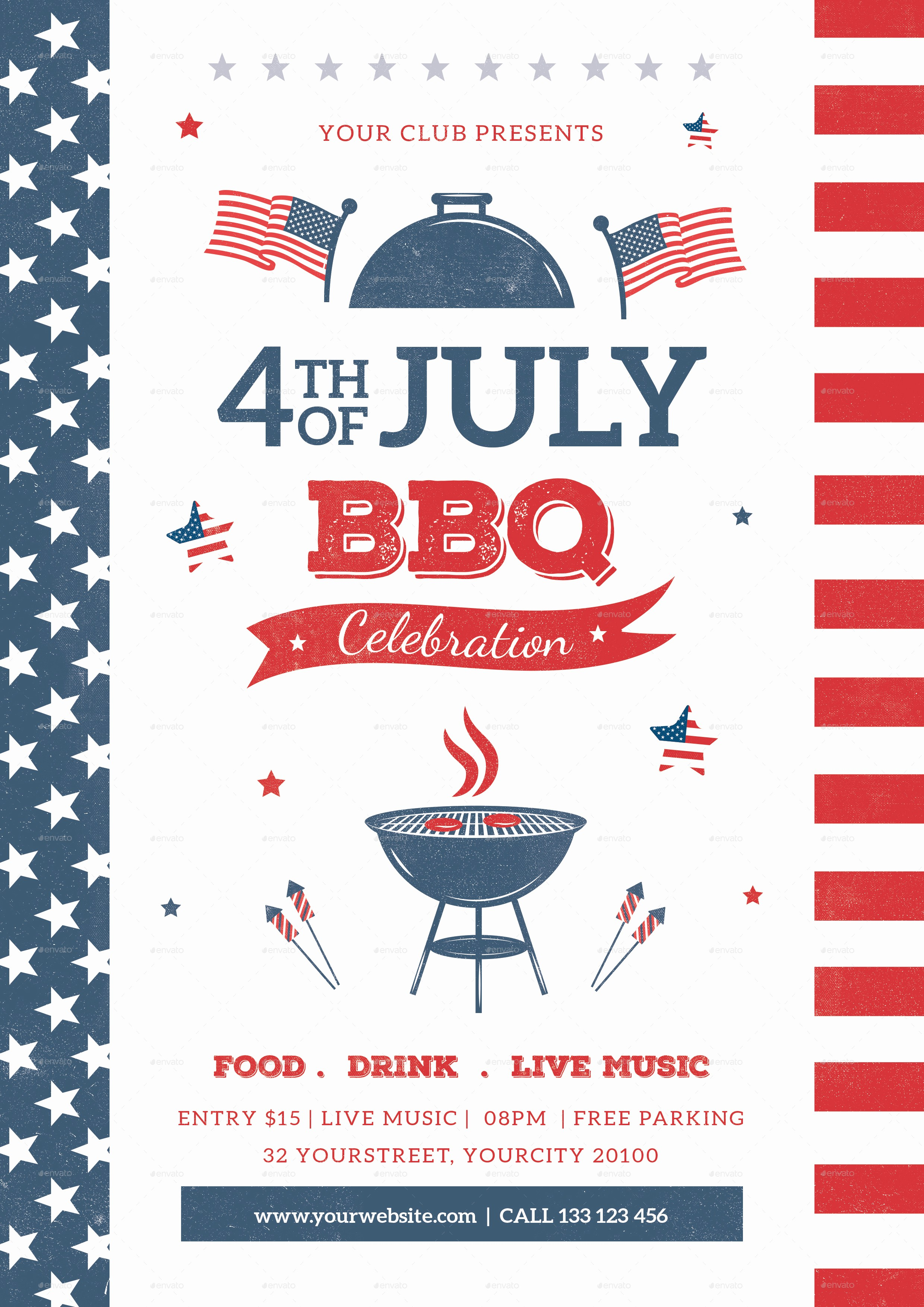 4th Of July Templates Free Beautiful 4th July Bbq Flyer by Infinite