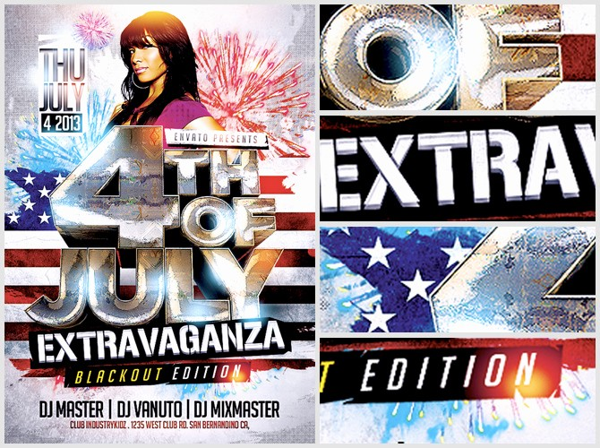 4th Of July Templates Free Beautiful 4th July Flyer Template Flyerheroes